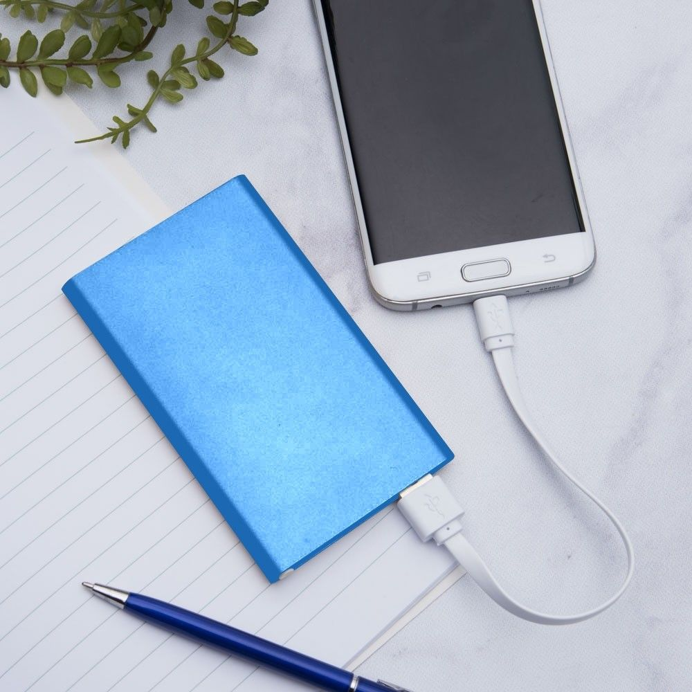 Apple iPhone 6 Plus -  4000mAh Slim Portable Battery Charger/Power Bank, Blue
