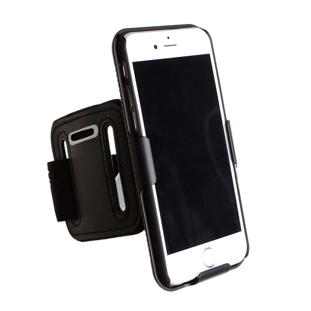 Apple iPhone 6 - Cellet FORCE Slim Proguard Case Sports Armband, Black