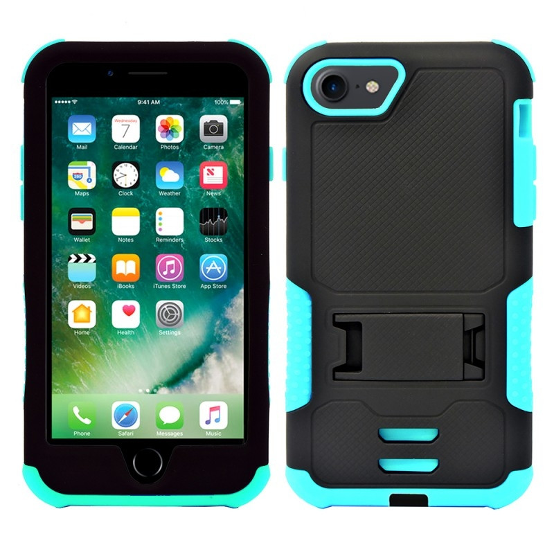 Apple iPhone 6s -  Mantas Heavy-Duty Rugged Case with Stand, Teal/Black