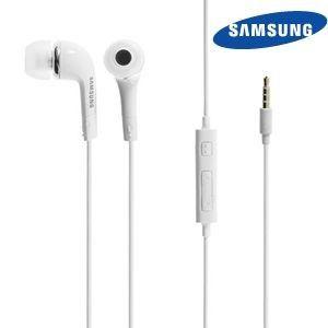 Apple iPhone 6 Plus -  Original Samsung 3.5mm Premium Stereo Headset w/In-Line Mic, White (EHS64AVFWE)
