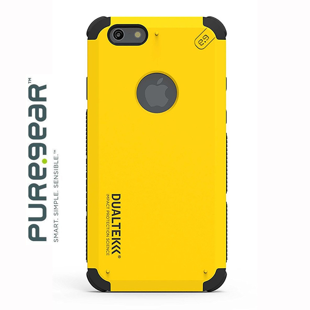 Original PureGear Apple iPhone 6/6s  DualTek Extreme Shock Hybrid Phone Case, Yellow