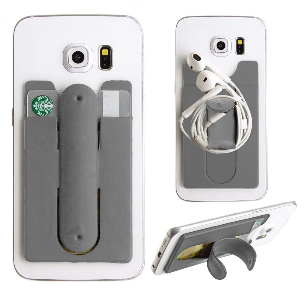 Apple iPhone 6 Plus -  2in1 Phone Stand and Credit Card Holder, Gray