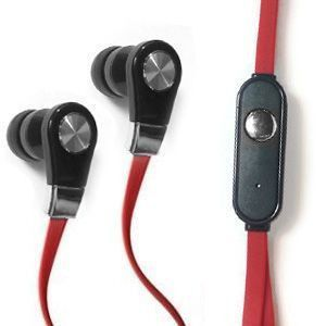 Apple iPhone 6 Plus -  Xtreme Bass High Def Tangle-Free 3.5mm Stereo Headset w/Microphone, Red/Black