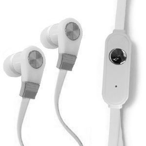 Apple iPhone 6 Plus -  Xtreme Bass High Def Tangle-Free 3.5mm Stereo Headset w/Microphone, White/White