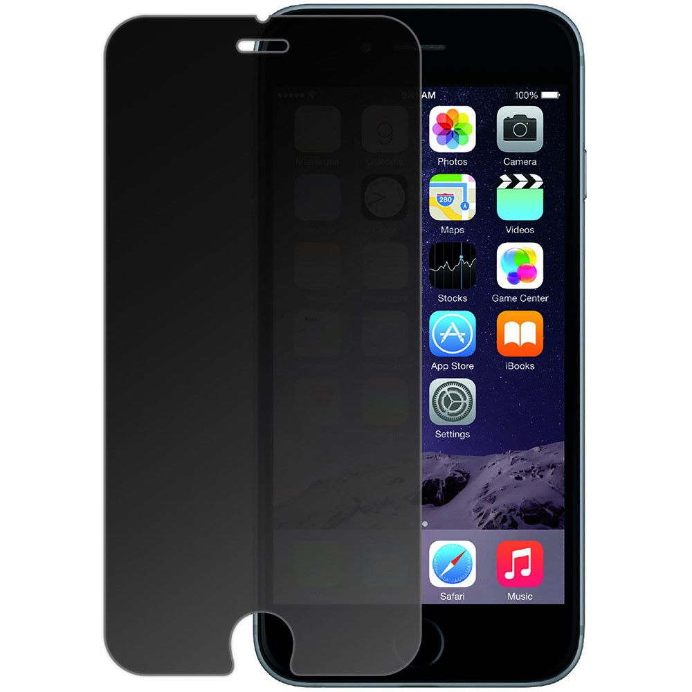 Apple iPhone 6/6s - Privacy Tempered Glass Screen Protector, Gray