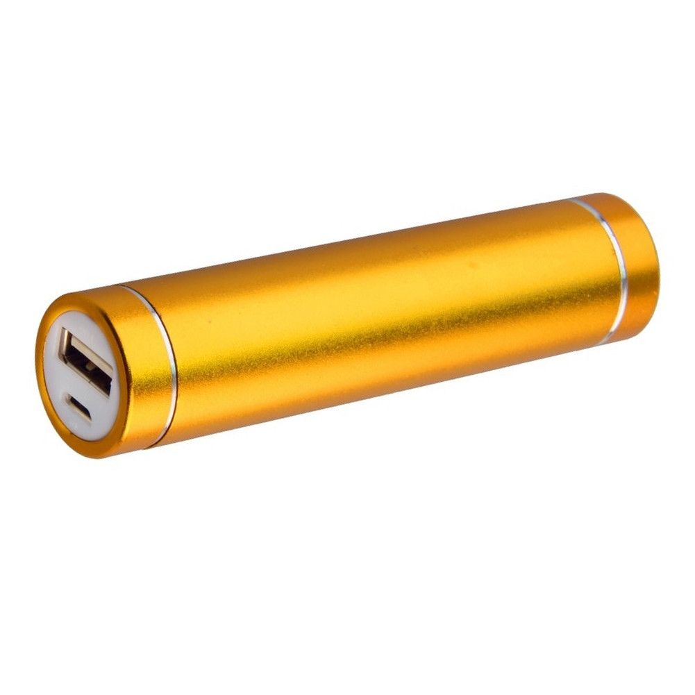 Apple iPhone 6s Plus -  Universal Metal Cylinder Power Bank/Portable Phone Charger (2600 mAh) with cable, Gold