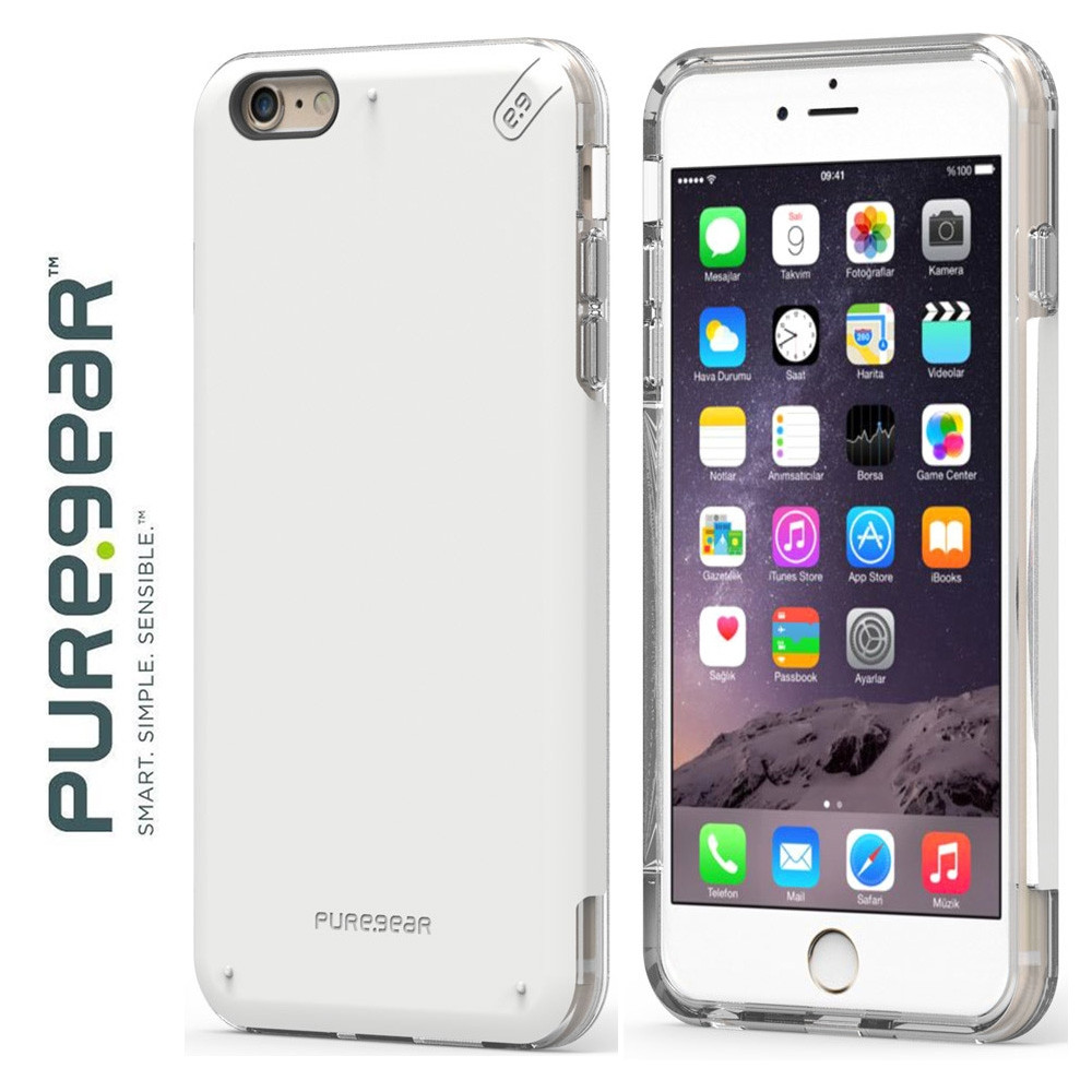 Original PureGear Apple iPhone 6/6s Plus DualTek Pro Rugged Case, White/Clear