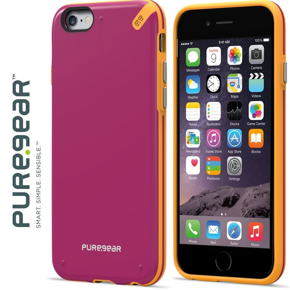Original PureGear Apple iPhone 6/6s Plus Slim Shell Rugged Case, Sunset Pink