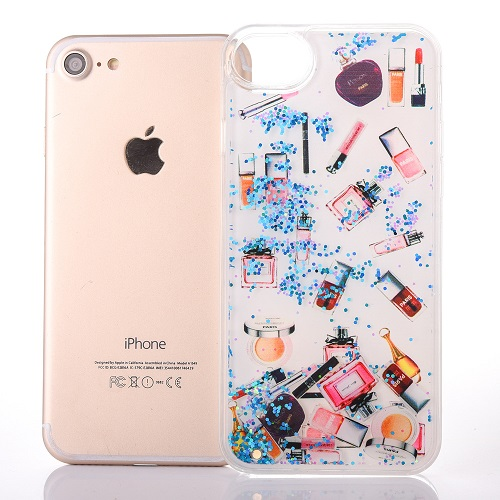 78f91fb9e6 Girly Cosmetic Makeup Glitter Dynamic Liquid Quicksand Case Super Soft  Silicone iPhone 6/7/6s/Plus Case