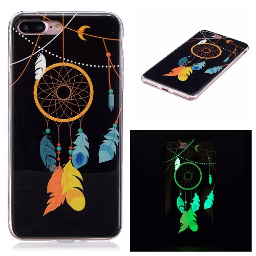Ultra Thin Luminous Clear Soft Silicone TPU Phone Back Case for iPhone 6/7/6s/Plus-Dream Catcher