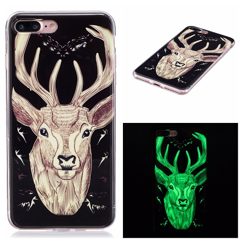 Ultra Thin Luminous Clear Soft Silicone TPU Phone Back Case for iPhone 6/7/6s/Plus-Elk