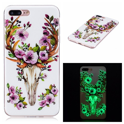 Ultra Thin Luminous Clear Soft Silicone TPU Phone Back Case for iPhone 6/7/6s/Plus-Deer