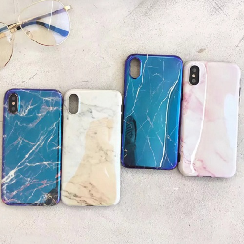 Bling Laser Blue Ray Marble Pattern iPhone case Shiney Flexible Soft TPU Case for iPhone 6 7 8/Plus/X